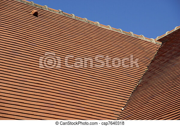 Detail of a tiled roof - csp7640318