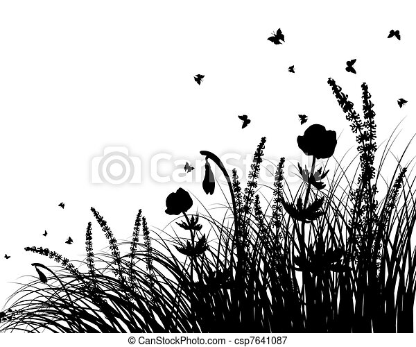 meadow silhouettes - csp7641087
