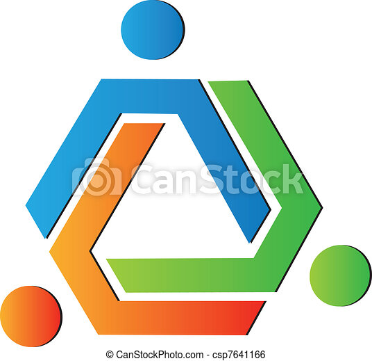 Team color creative logo - csp7641166
