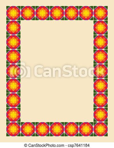 Art nouveau border photo frame - csp7641184