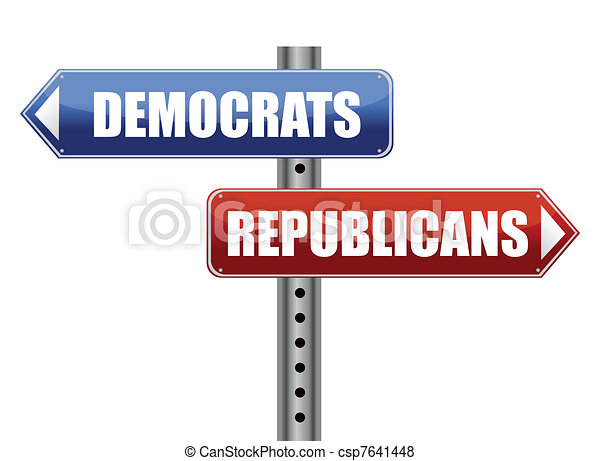 Democrats and Republicans election - csp7641448