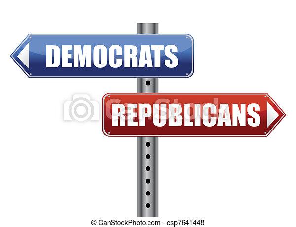 Democrats and Republicans election  - csp7641448
