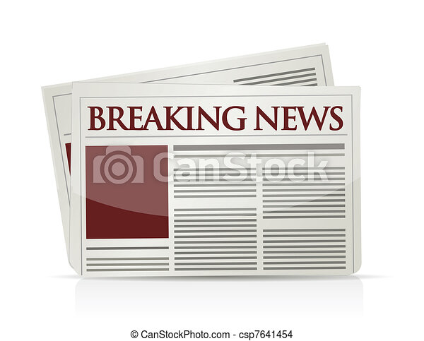 breaking news illustration design  - csp7641454