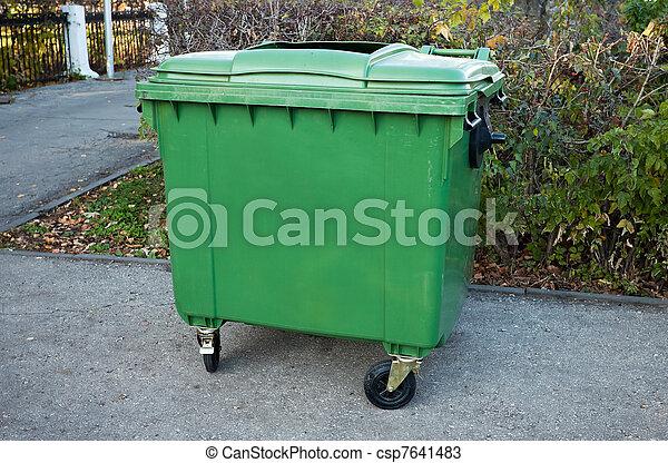 Green dumpster - csp7641483