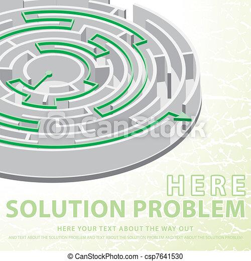 Clipart vettoriali di problema concetto soluzione for Concetto aperto di piani coloniali