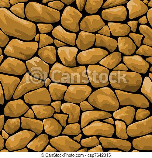 Brown stone seamless background - csp7642015