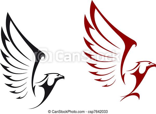 Eagle mascots - csp7642033