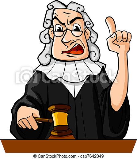 Judge makes verdict - csp7642049