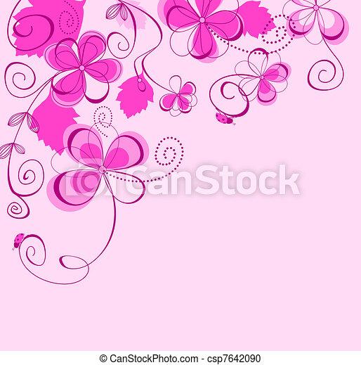 Purple floral background - csp7642090