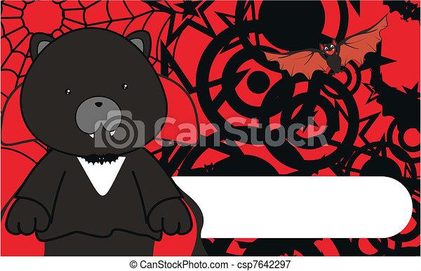 panther dracula cartoon background - csp7642297