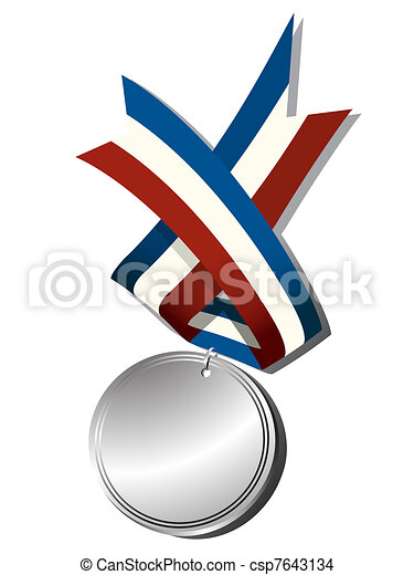 Realistic silver medal - csp7643134