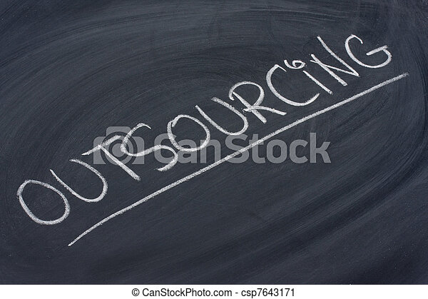outsourcing word on blackboard - csp7643171