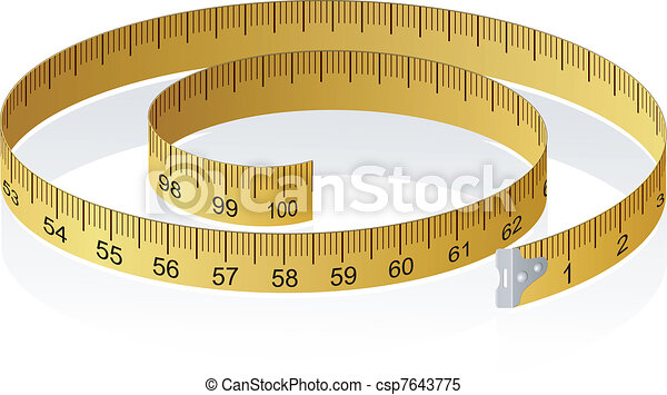Vector illustration of a measuring tape with reflection - csp7643775