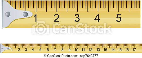 Vector illustration of a measuring tape - csp7643777