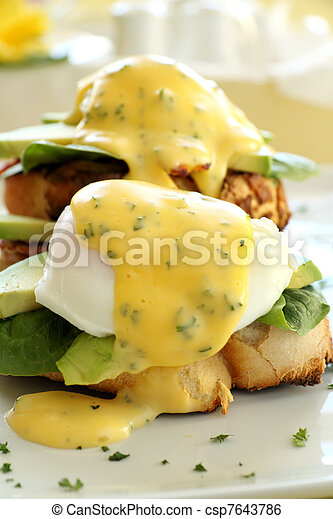 Bacon And Egg Benedict - csp7643786