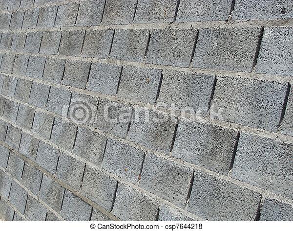 Stock Foto   Blaues, Graue , Stein, Gemacht, Grunge, Wand, Konkreter Block
