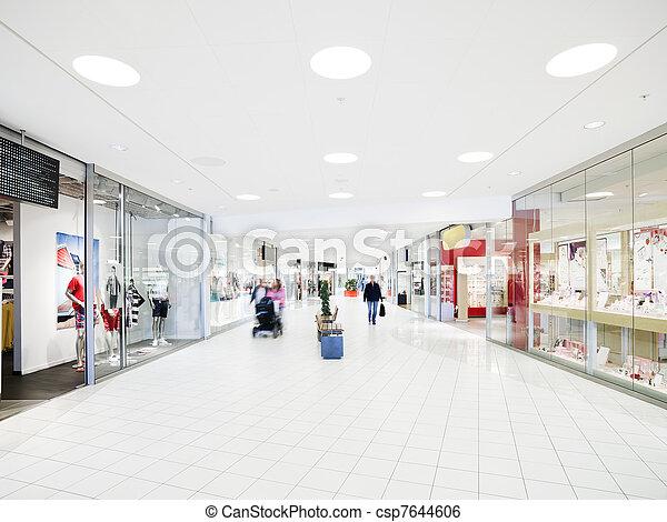 einkaufszentrum, shoppen - csp7644606
