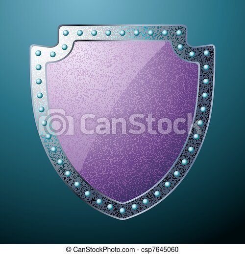 Scratched steel shield. EPS 8 - csp7645060