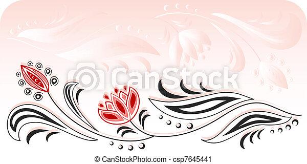 Floral frame_4 - csp7645441
