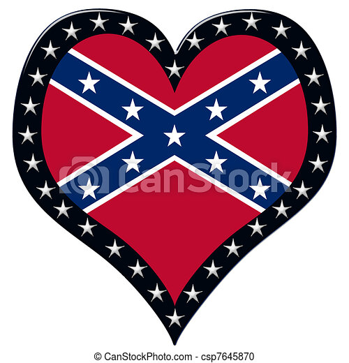 Confederate Heart - csp7645870
