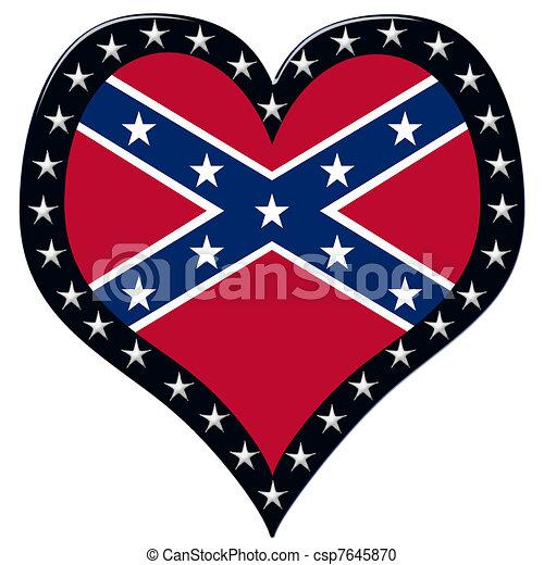 Confederate Heart - csp7645870