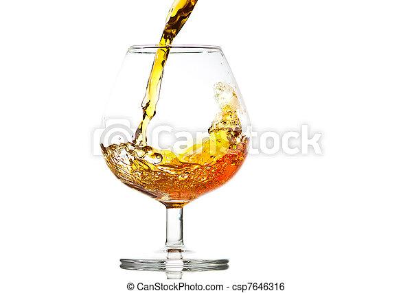 Image de verre gros plan remplissage cognac for Plan de cognac