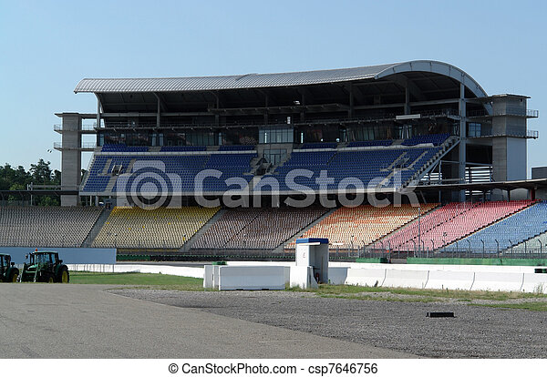 race course and tribune - csp7646756