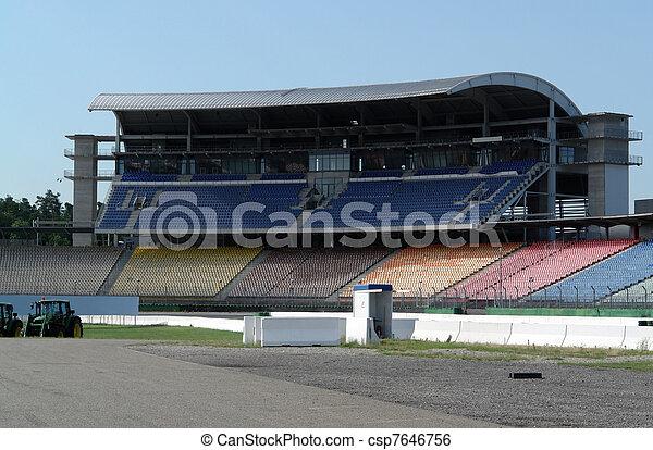 race course and tribune - csp7646756