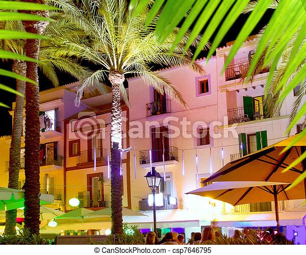 Ibiza island nightlife in Eivissa town - csp7646795