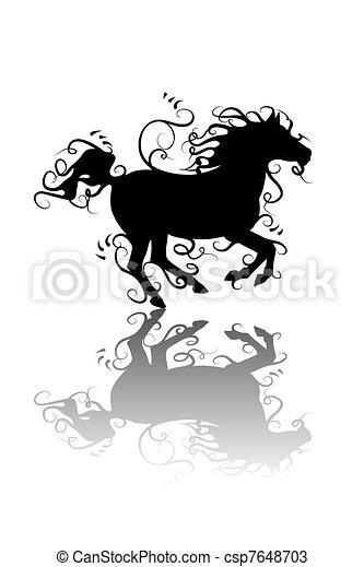 Vettori di cavallo stilizzato horses for Disegno cavallo stilizzato