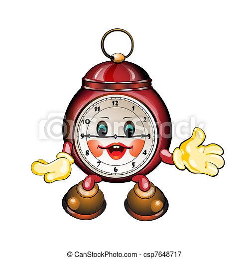 Cartoon Clock Royalty Free Eps Clip Art Csp7648717