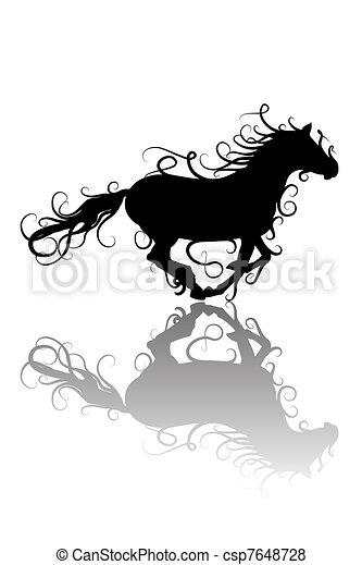 Vettore Di Stilizzato Cavallo Silhouettecsp7648728