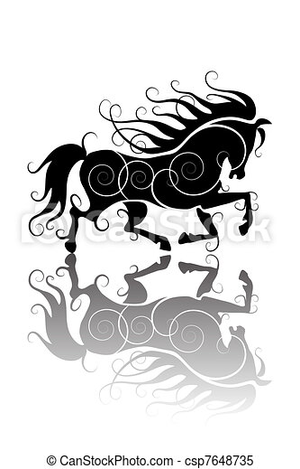Clipart vettoriali di stilizzato cavallo for Disegno cavallo stilizzato