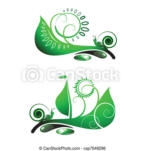 Snail on leaf - csp7649296
