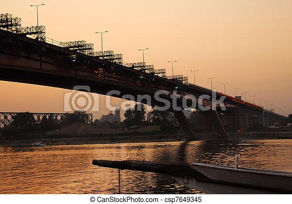Bridge reconstruction in Belgrade - csp7649345