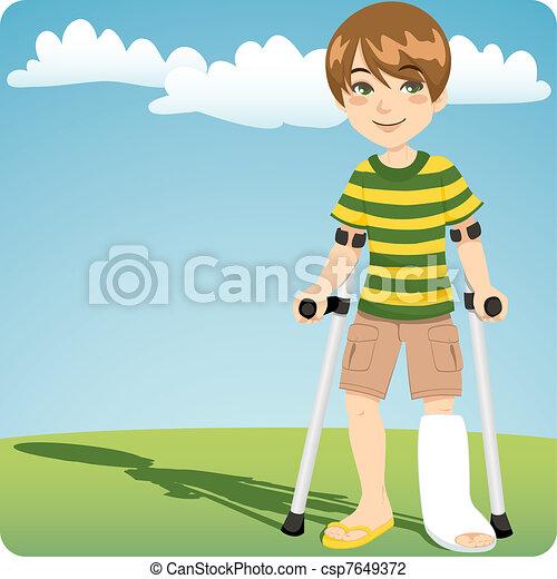 Broken Ankle - csp7649372