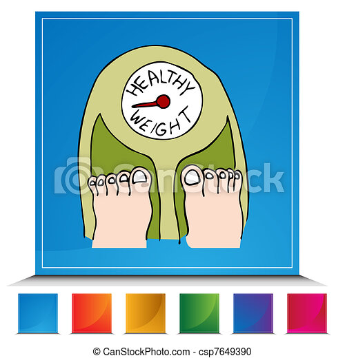 Healthy Weight Scales Clip Art