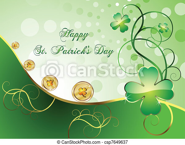 St. Patrick's Day card - csp7649637