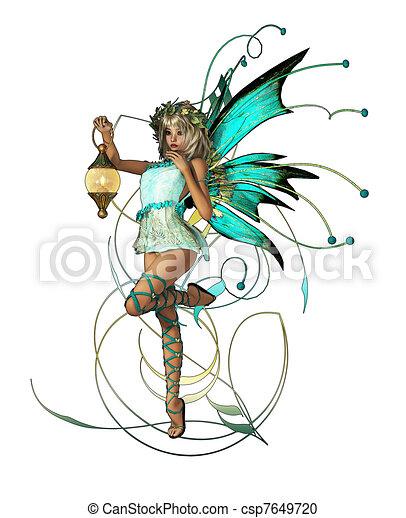 Turquoise Pixie - csp7649720