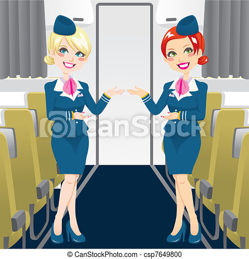 Beautiful Stewardess - csp7649800