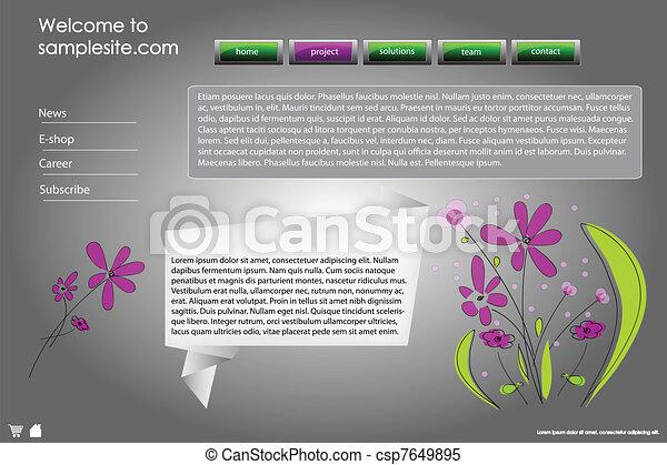 Web site design template 40 - csp7649895