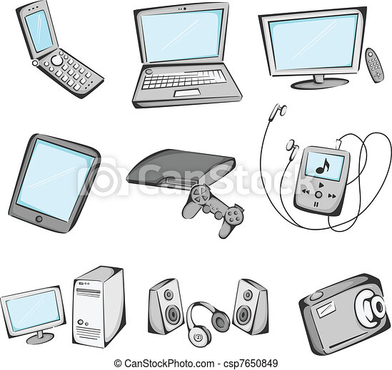 Electronics items icons - csp7650849