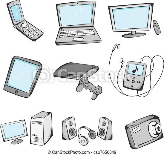 Electronics items icons - csp7650849
