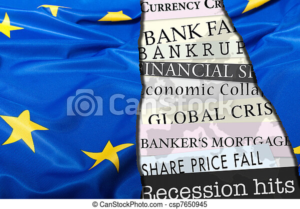 Financial Crisis in Europe - csp7650945