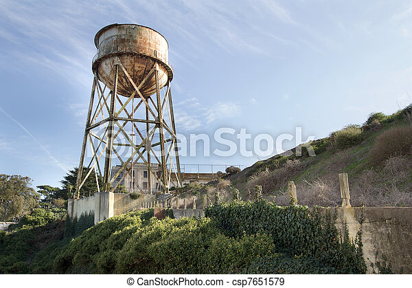 Water Tower at Alcatraz Island - csp7651579