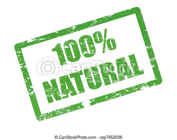100 % natural stamp - csp7652036
