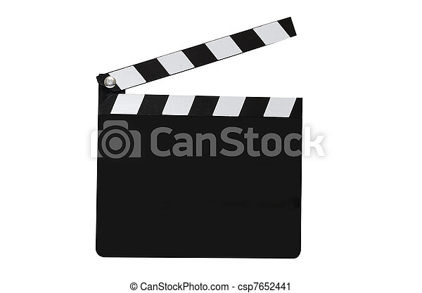 Blank Movie Clapboard Isolated - csp7652441