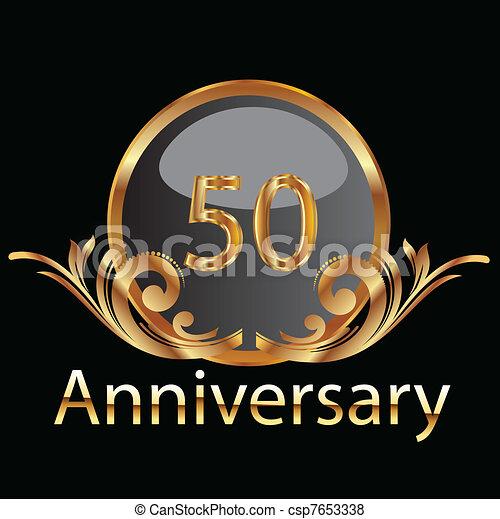Gold 50th anniversary - csp7653338
