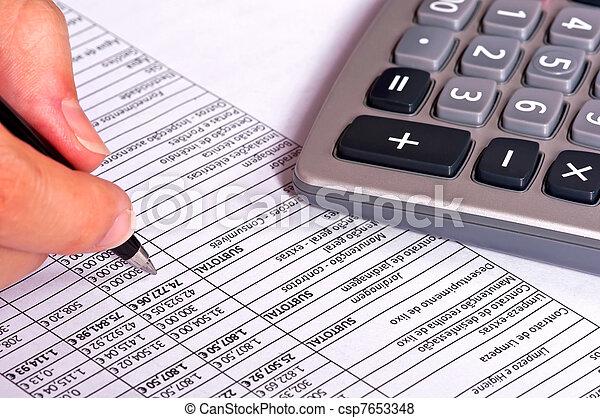 Doing Accounts - csp7653348