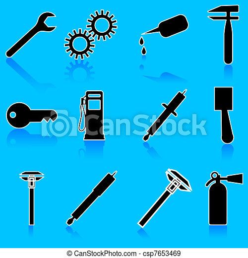 Auto Car Repair Service Icon Symbol - csp7653469